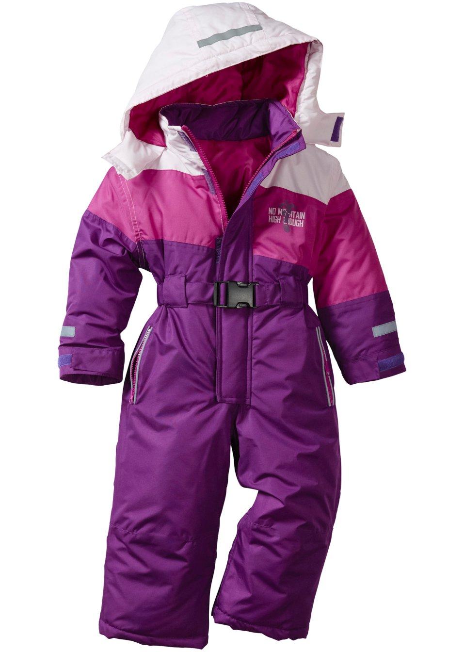 Combinaison de ski violet pervenche parme fuchsia moyen bpc bonprix collect - Bonprix suivi de commande ...