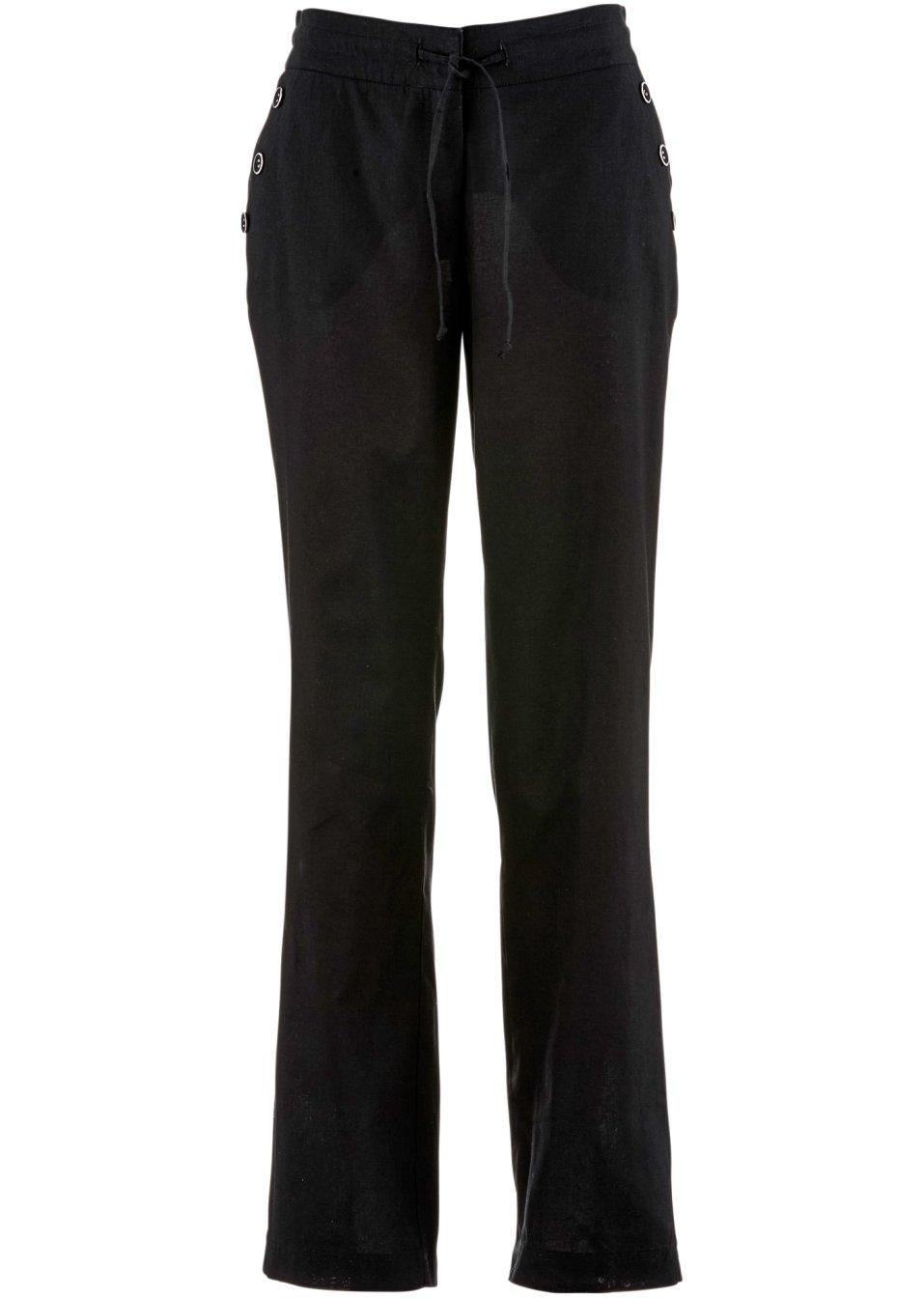 pantalon lin noir femme. Black Bedroom Furniture Sets. Home Design Ideas