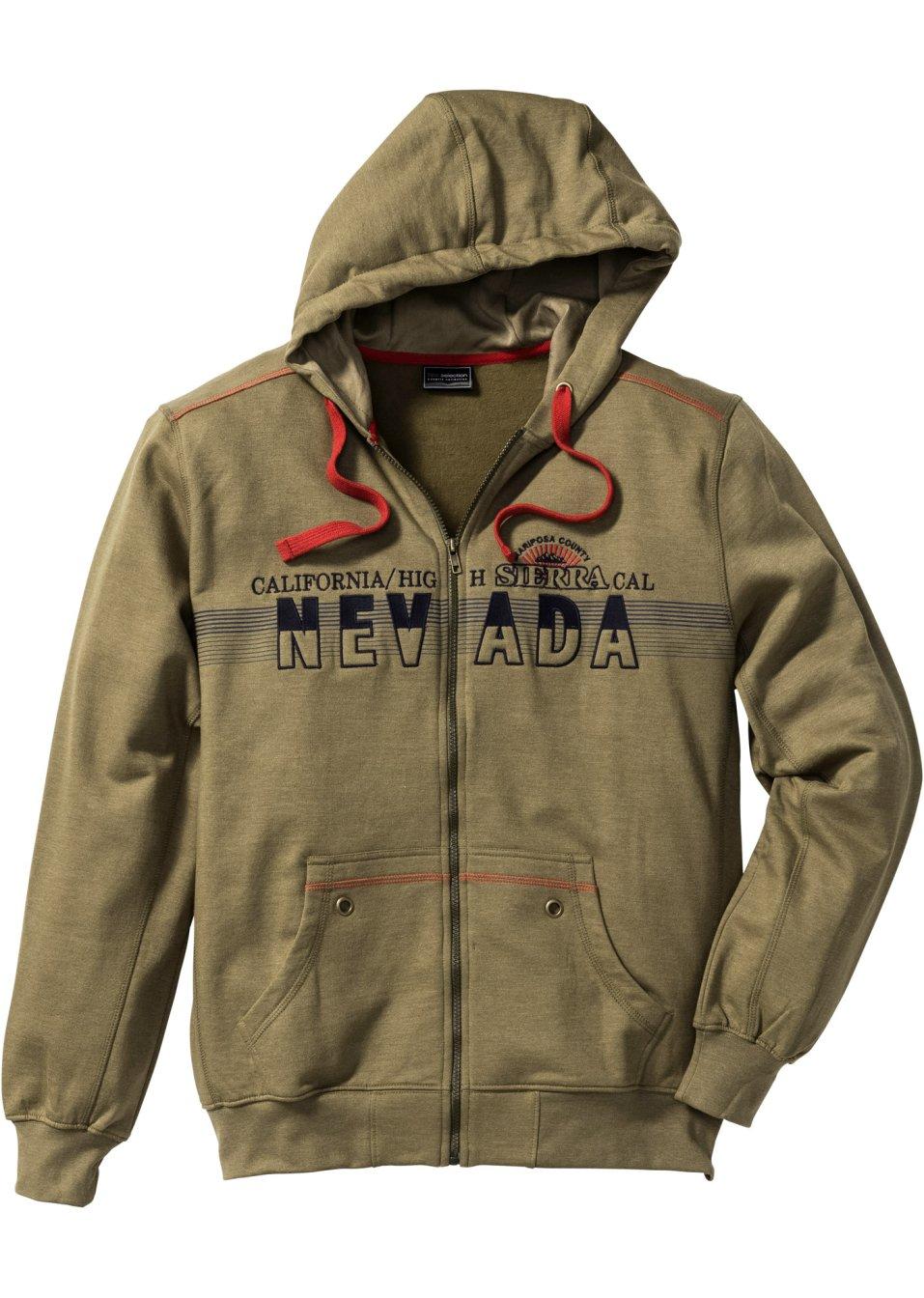 Sweat shirt capuche regular fit olive fonc chin for Sweaty t shirts and human mate choice