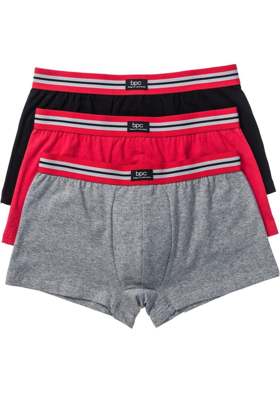 Lot de 3 boxers noir bpc bonprix collection commande online - Bonprix suivi de commande ...