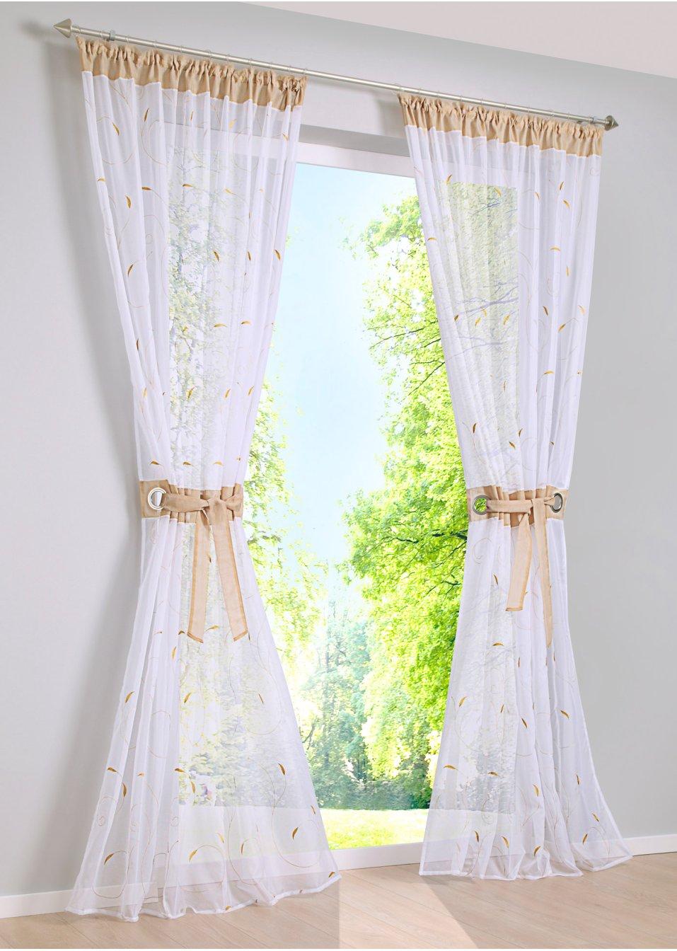 voilage jana 1 pce galon fronceur sable bpc living acheter online. Black Bedroom Furniture Sets. Home Design Ideas