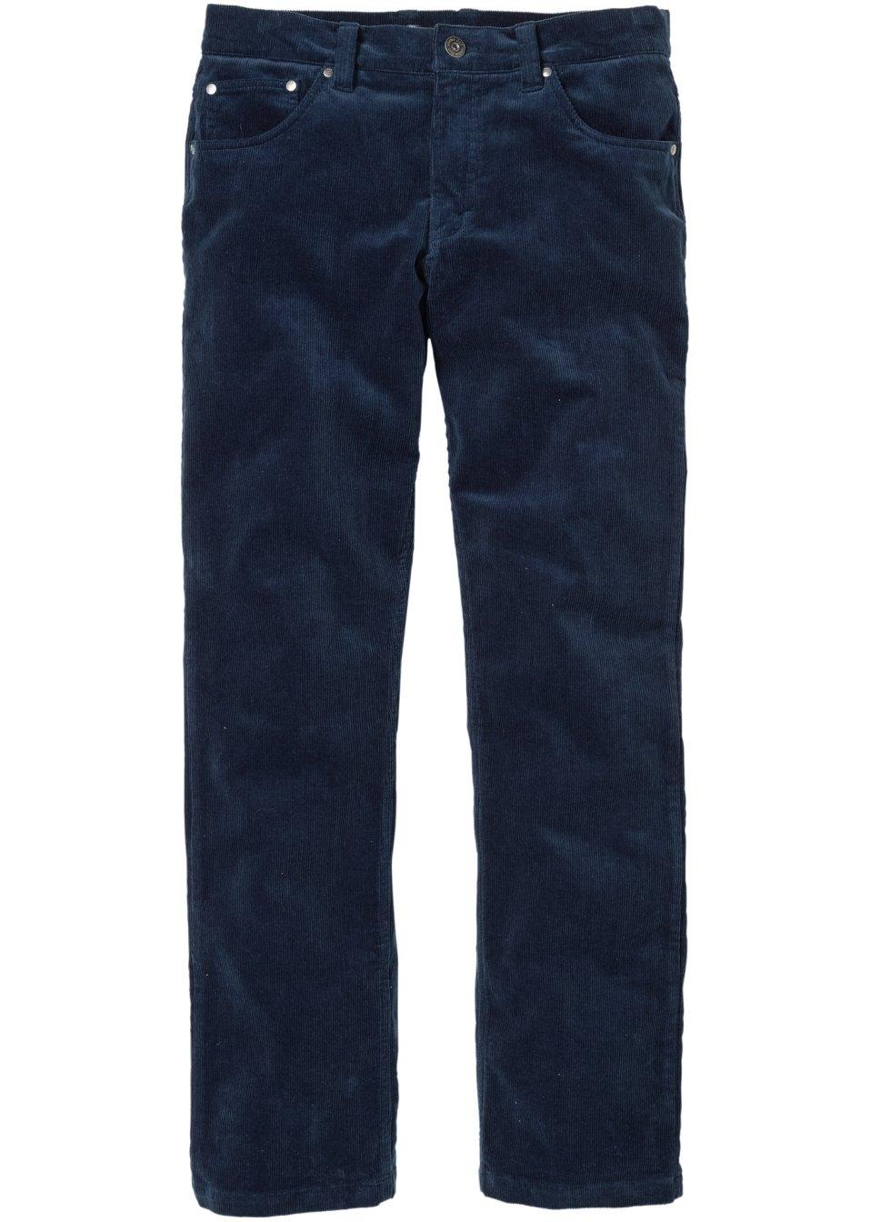 Pantalon en velours c tel regular fit straight n bleu - Pantalon velours cotele homme ...