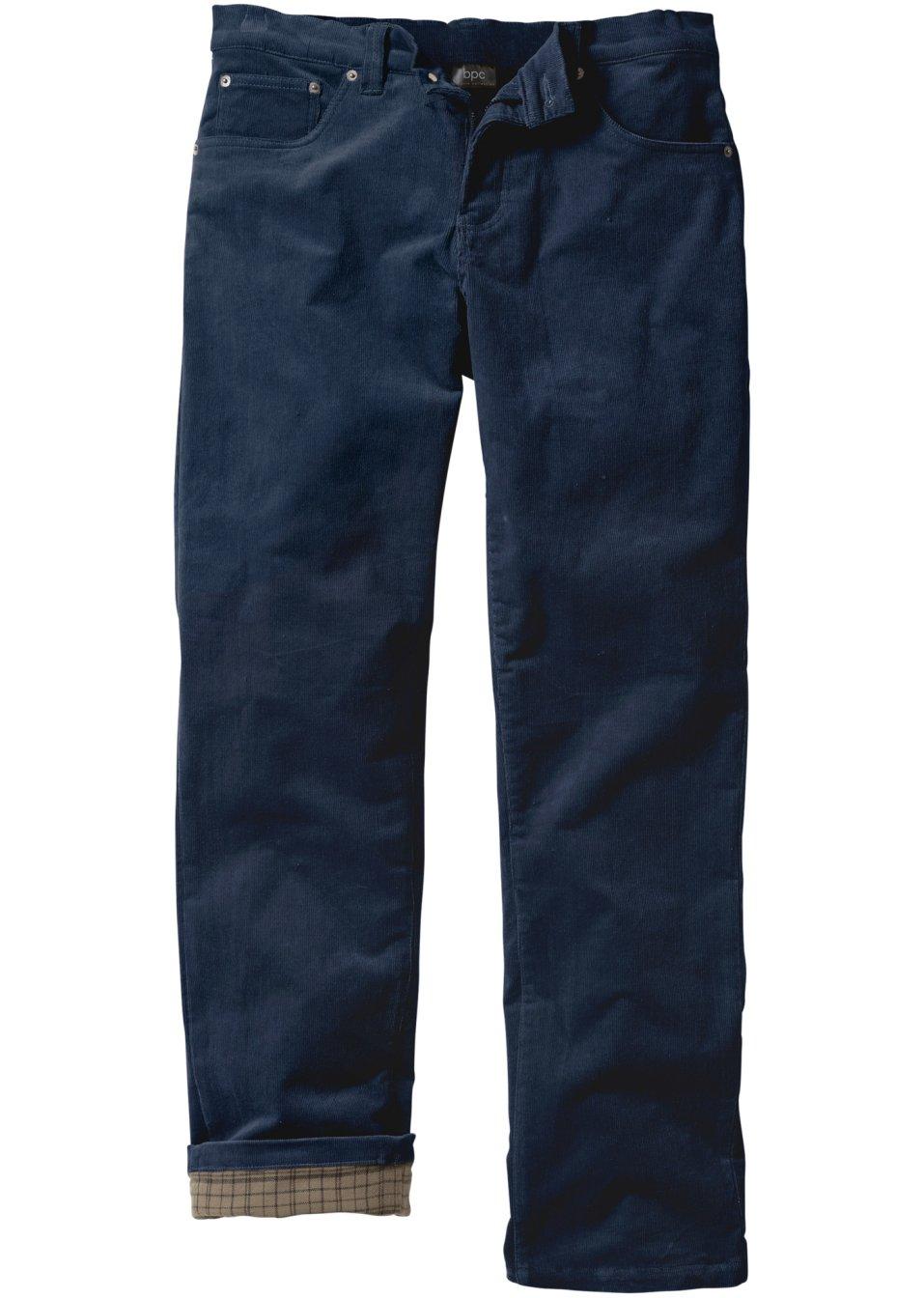 pantalon en velours c tel extensible thermo n bleu. Black Bedroom Furniture Sets. Home Design Ideas