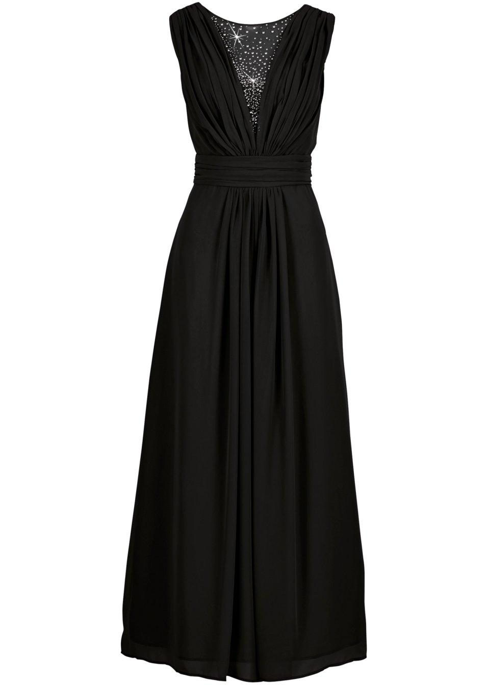 Robe longue noir bodyflirt - Bonprix suivi de commande ...