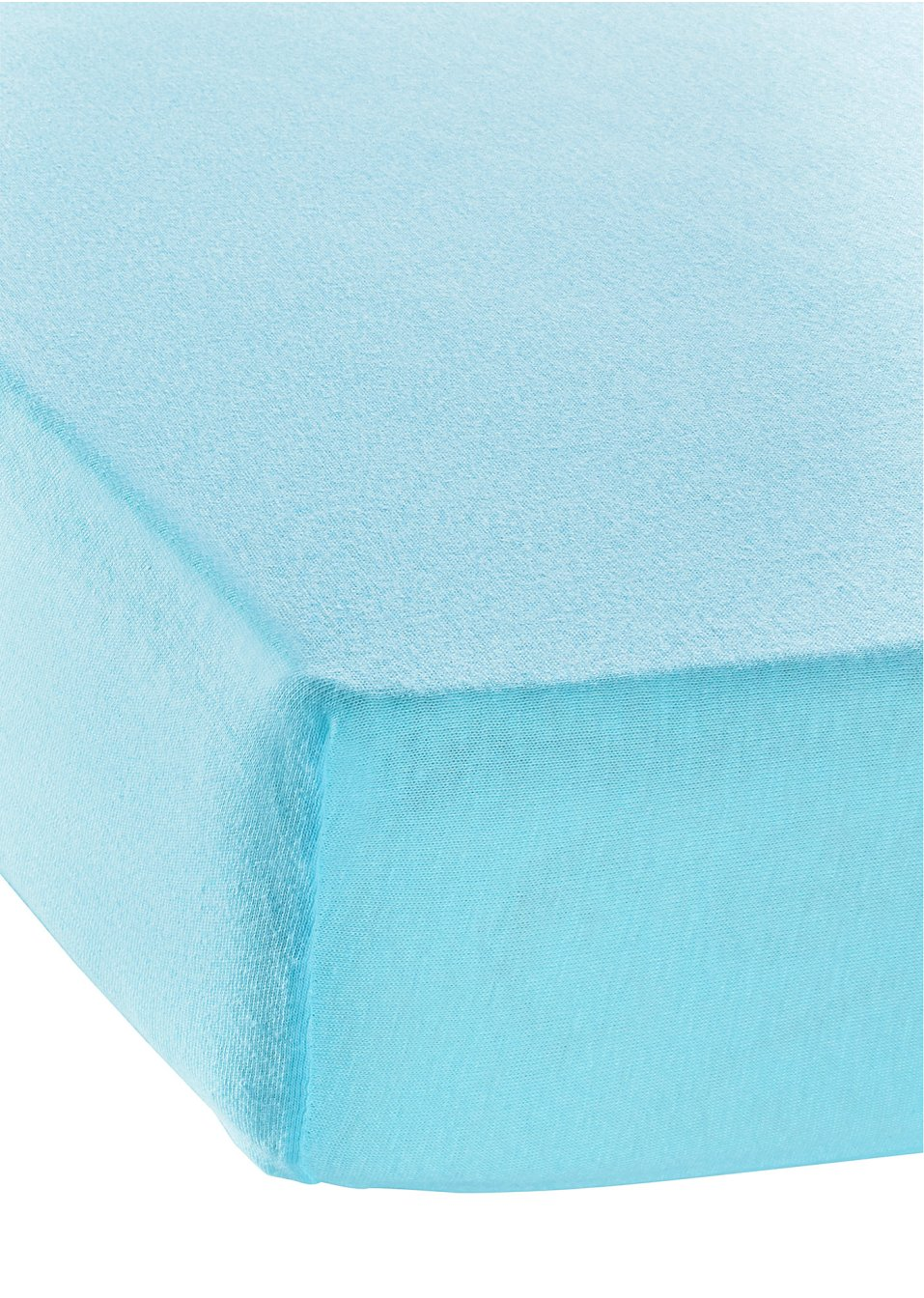 drap housse coton bio bleu blanc bpc living. Black Bedroom Furniture Sets. Home Design Ideas
