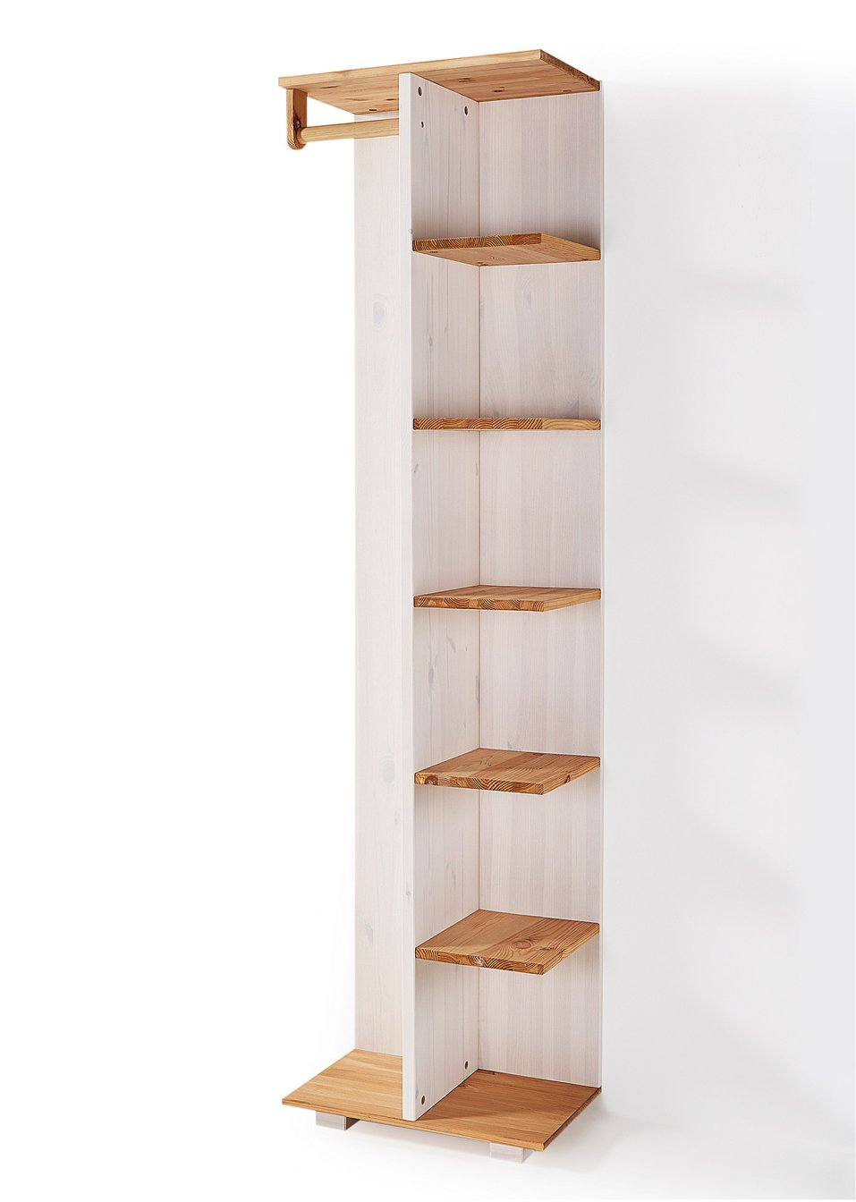 Meuble U00e9tagu00e8re Avec Tringle Frieda Bois Naturel/blanc - Maison - Bpc Living - Bonprix.fr