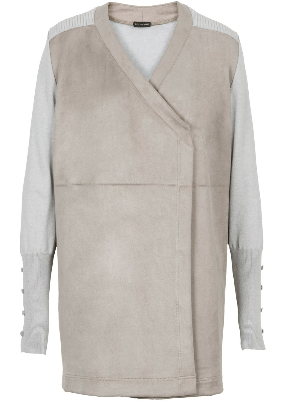 blazer gris clair beige femme bodyflirt. Black Bedroom Furniture Sets. Home Design Ideas