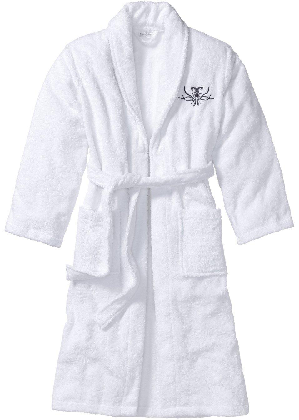 peignoir de bain blanc lingerie bpc selection. Black Bedroom Furniture Sets. Home Design Ideas