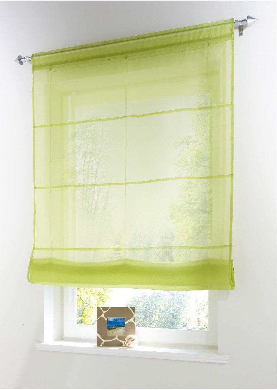 store bateau uni coulisse passe tringle vert maison. Black Bedroom Furniture Sets. Home Design Ideas