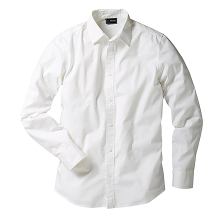 Stories - Chemise extensible slim fit - blanc
