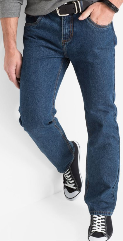 Homme - Jean classic fit straight - bleu