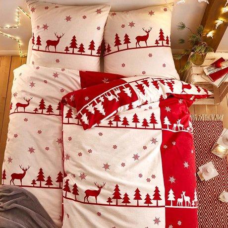 linge de lit no l d co de no l no l maison. Black Bedroom Furniture Sets. Home Design Ideas