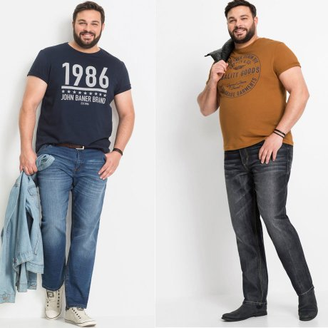 Homme - Jean Regular Fit Straight - bleu foncé used