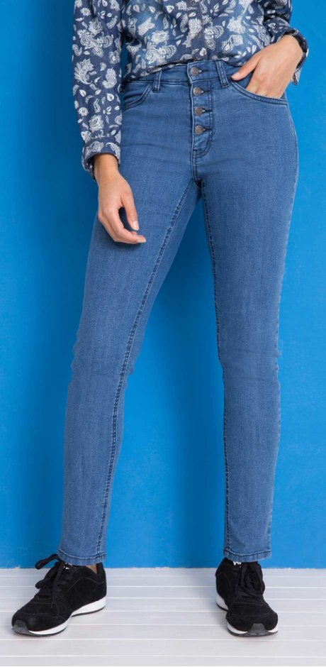 Femme - Jean confort-stretch Slim Fit - bleu