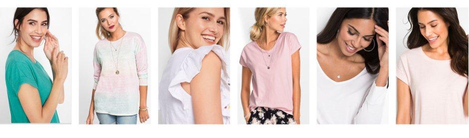 03934c872e Femme - Mode - T-shirts - Manches courtes, encolure ronde