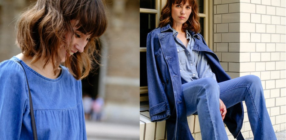 Stories - Trench-coat en jean - bleu stone
