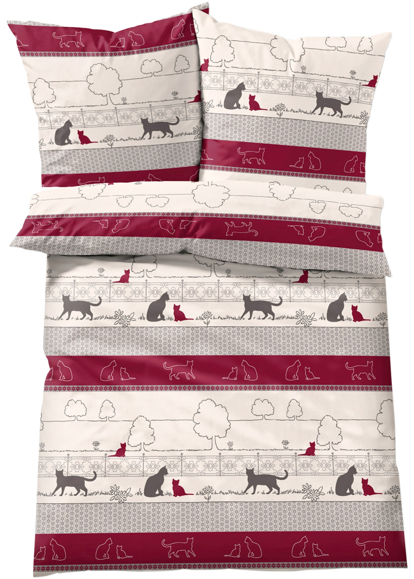 Parure de lit motif chat