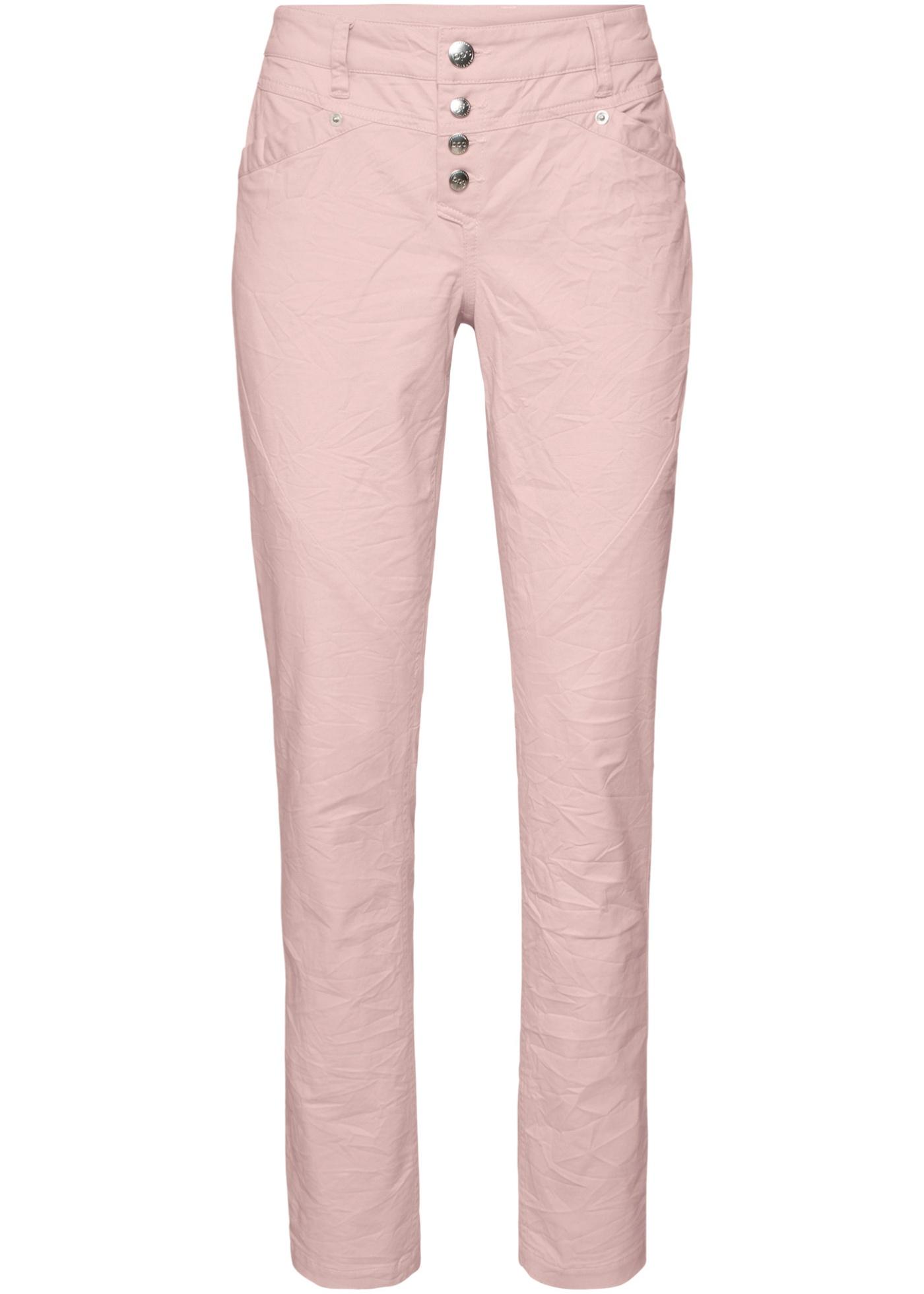 Pantalon en coton extensible froissé