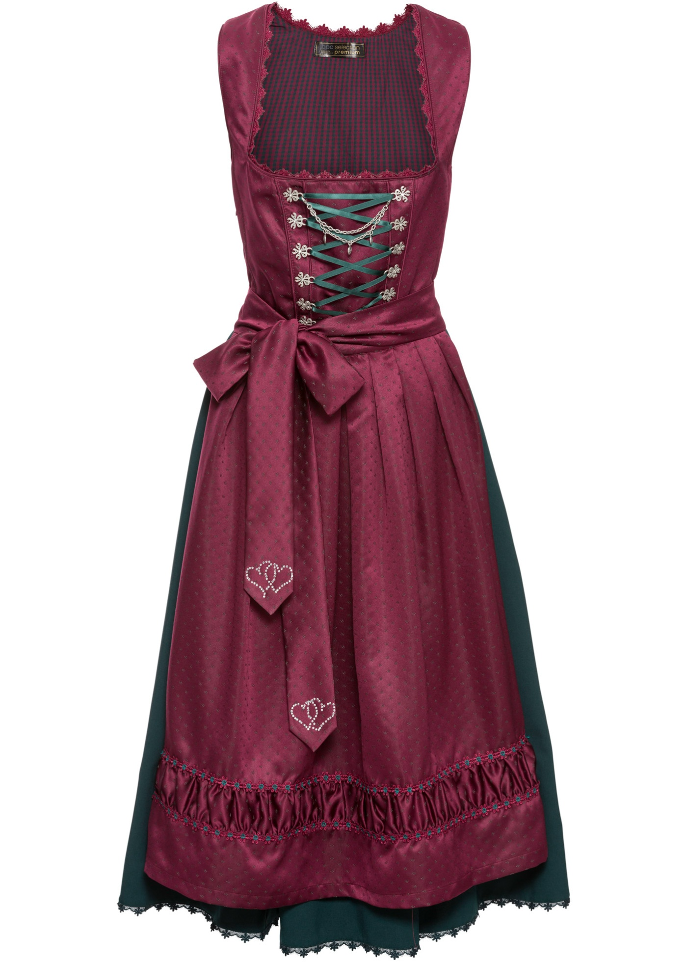 Dirndl à tablier satin brodé