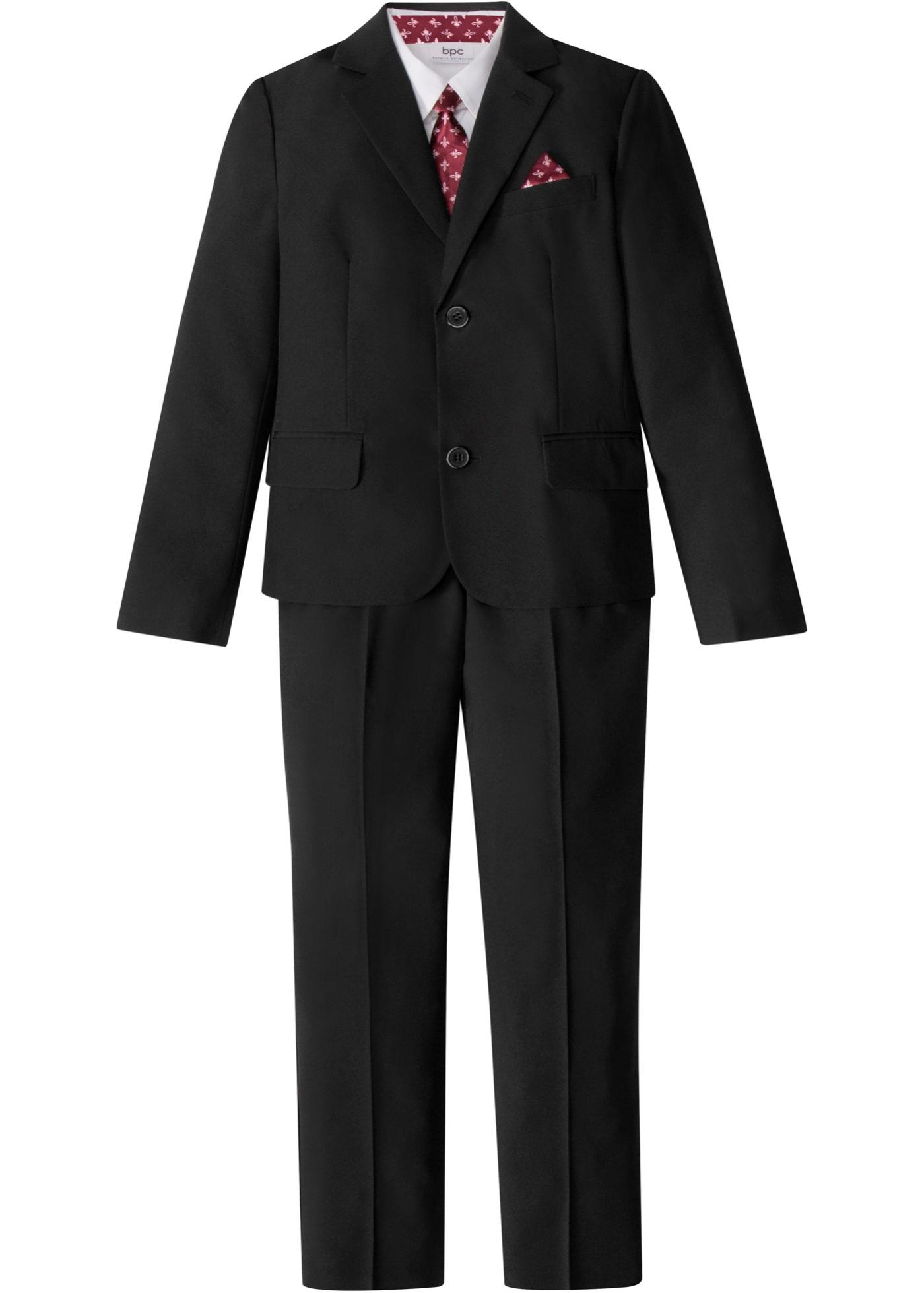 Costume garçon + chemise + cravate (Ens. 4 pces.)