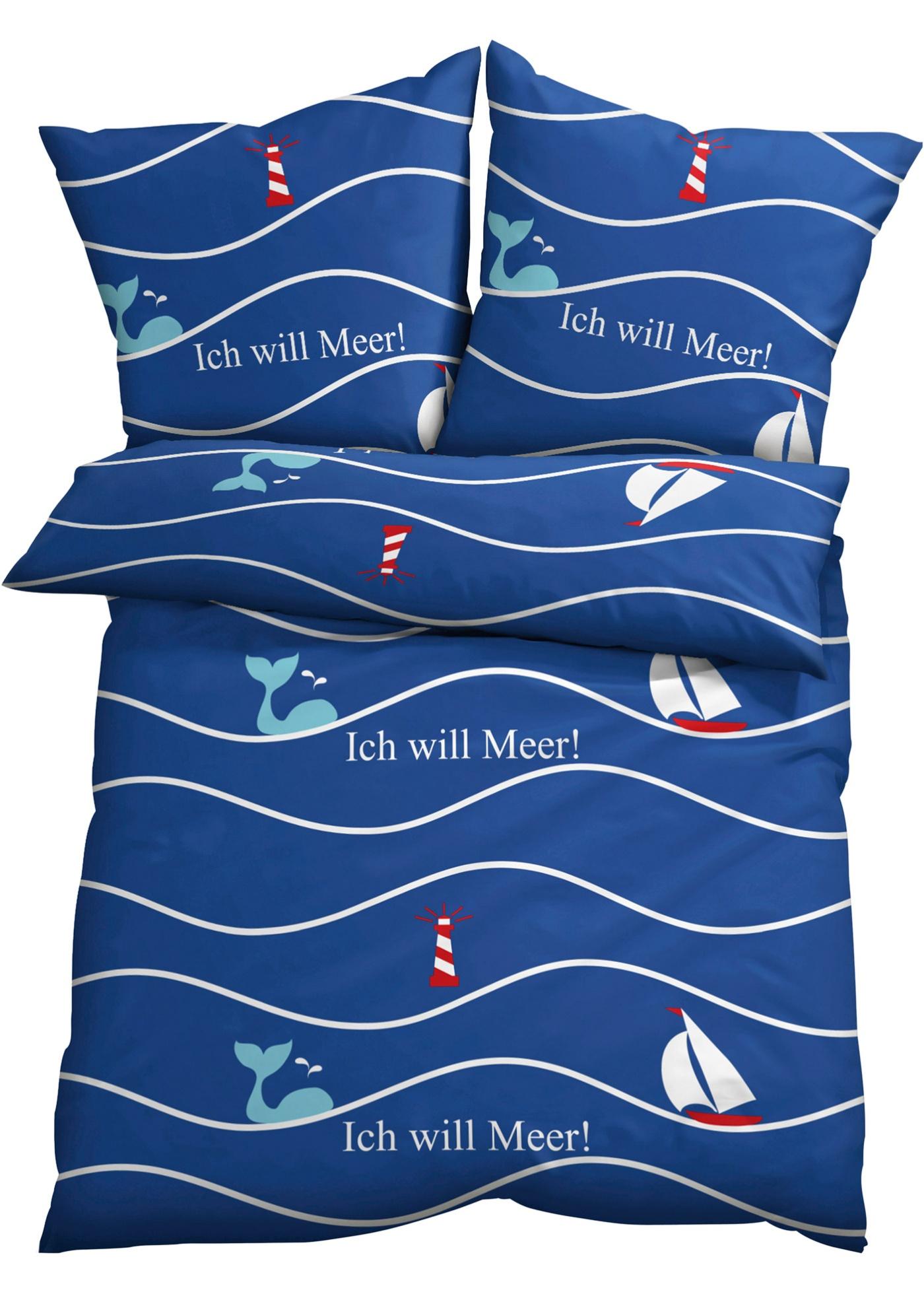 Parure de lit à motif marin
