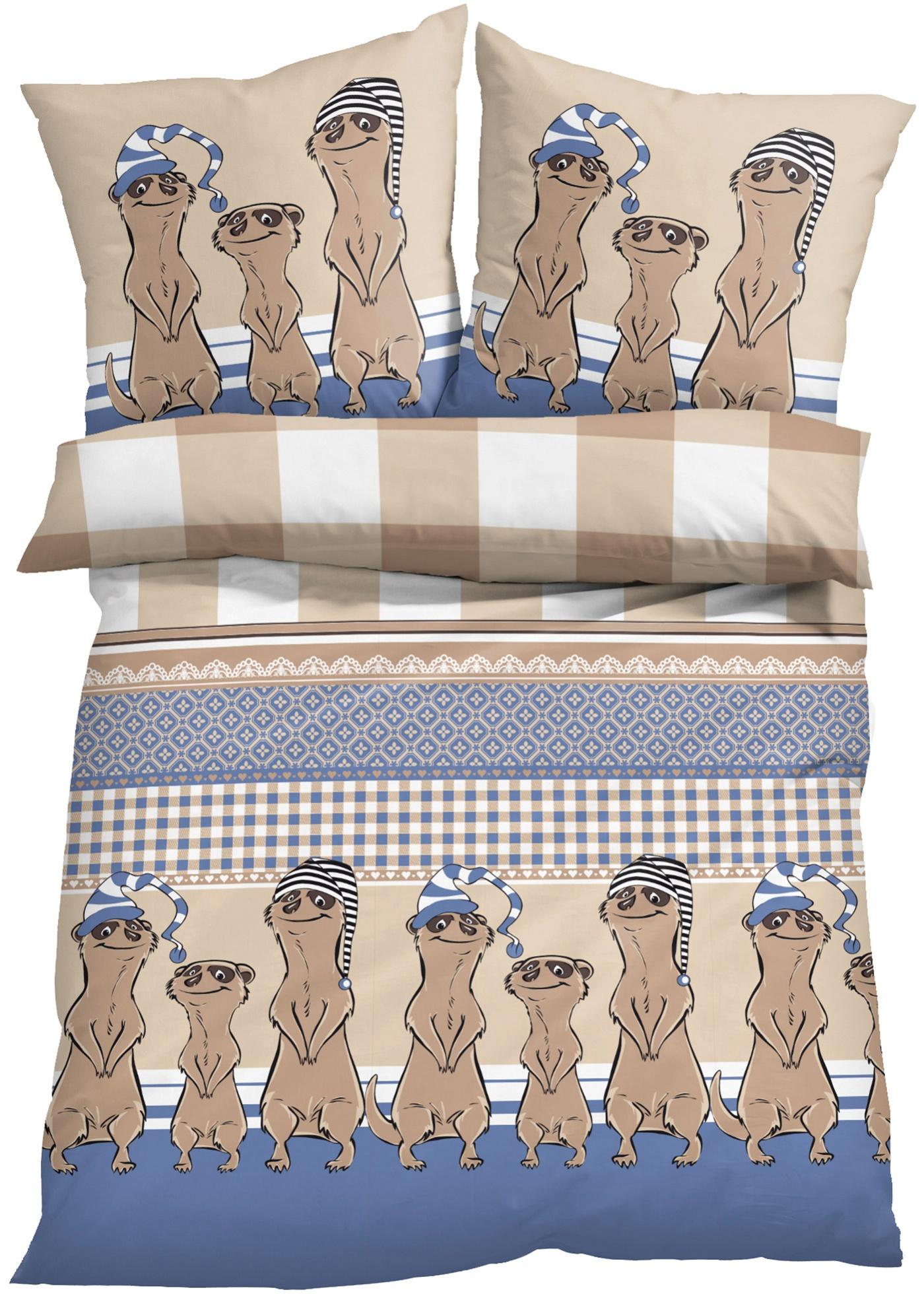 Parure de lit motif suricate