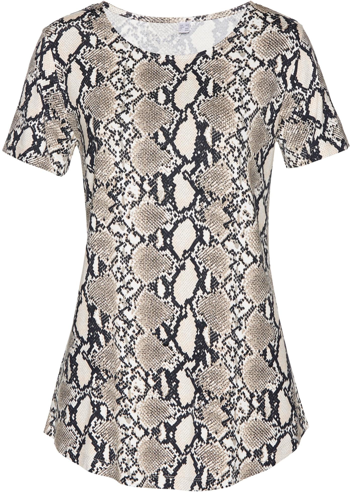 T-shirt long à imprimé animal
