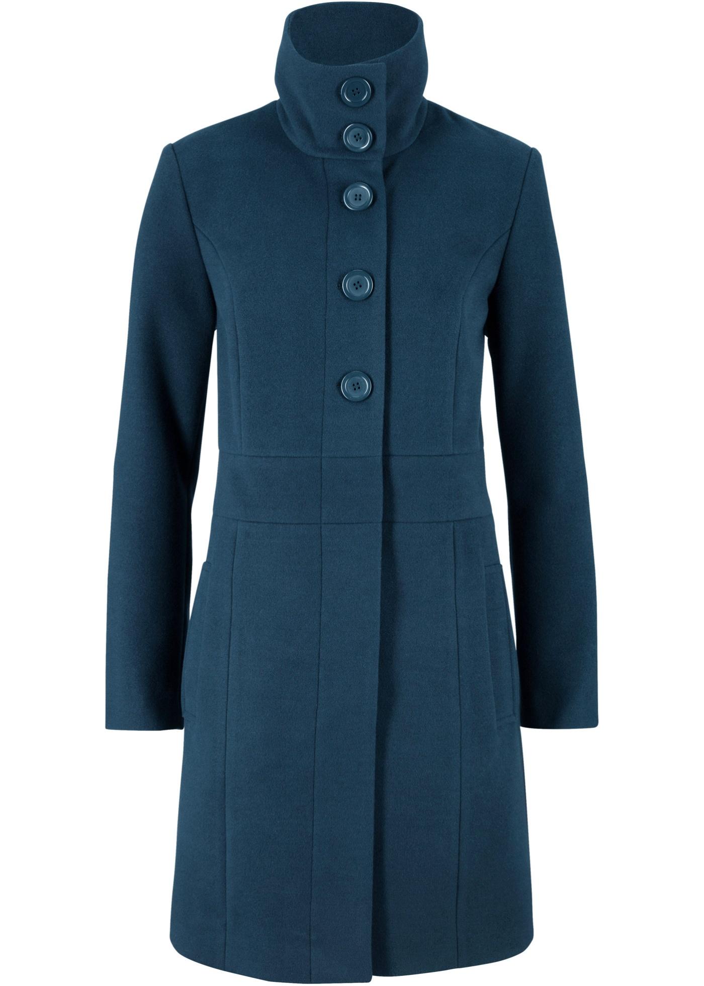 Manteau court en imitation laine