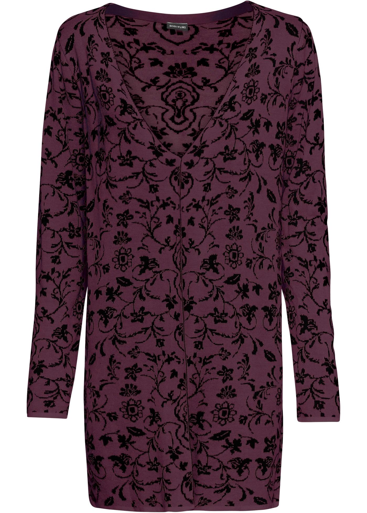 Gilet long en maille jacquard de BODYFLIRT avec motifs doux tricotés. Matière douillette et agréable à porter. Long. env. 80 cm.