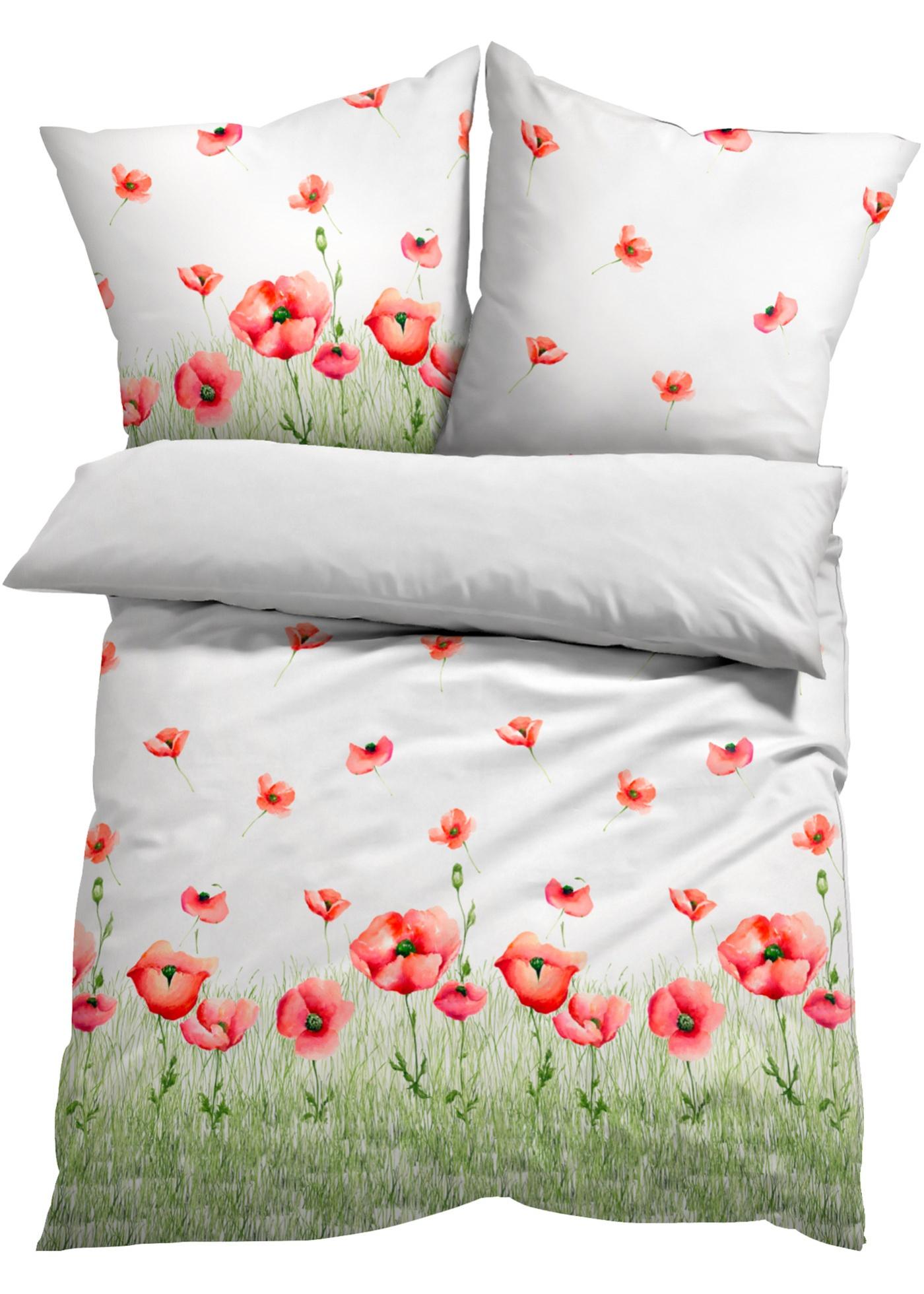 Parure de lit motif coquelicot