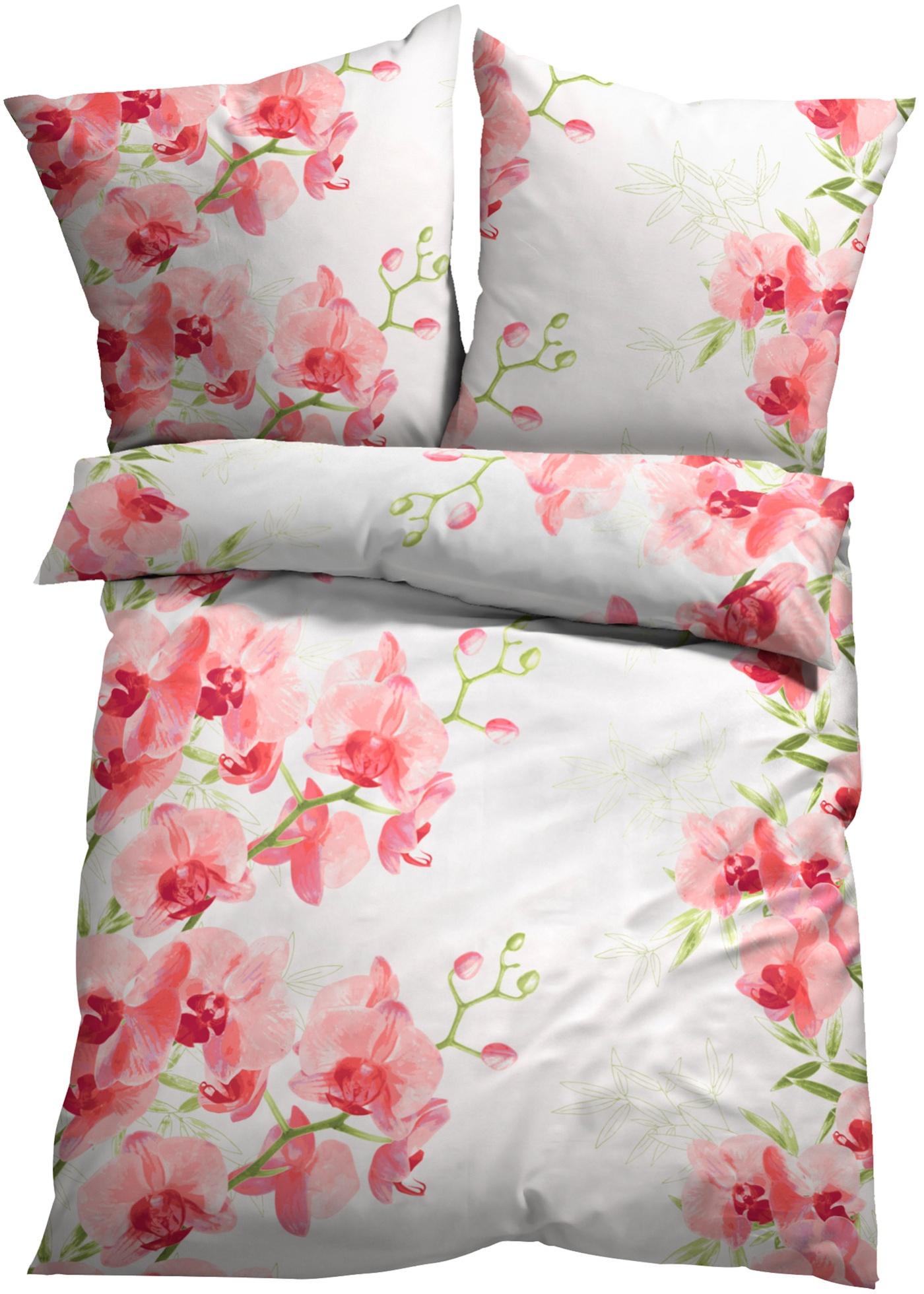 Parure de lit motif orchidée