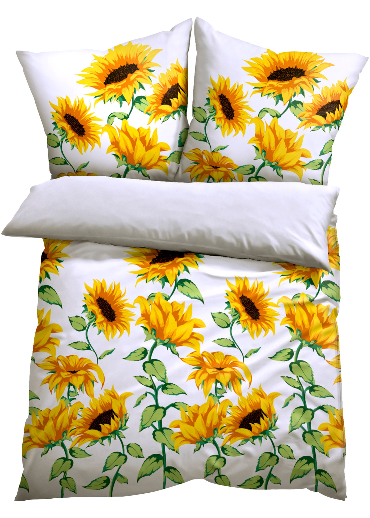 Parure de lit motif tournesol