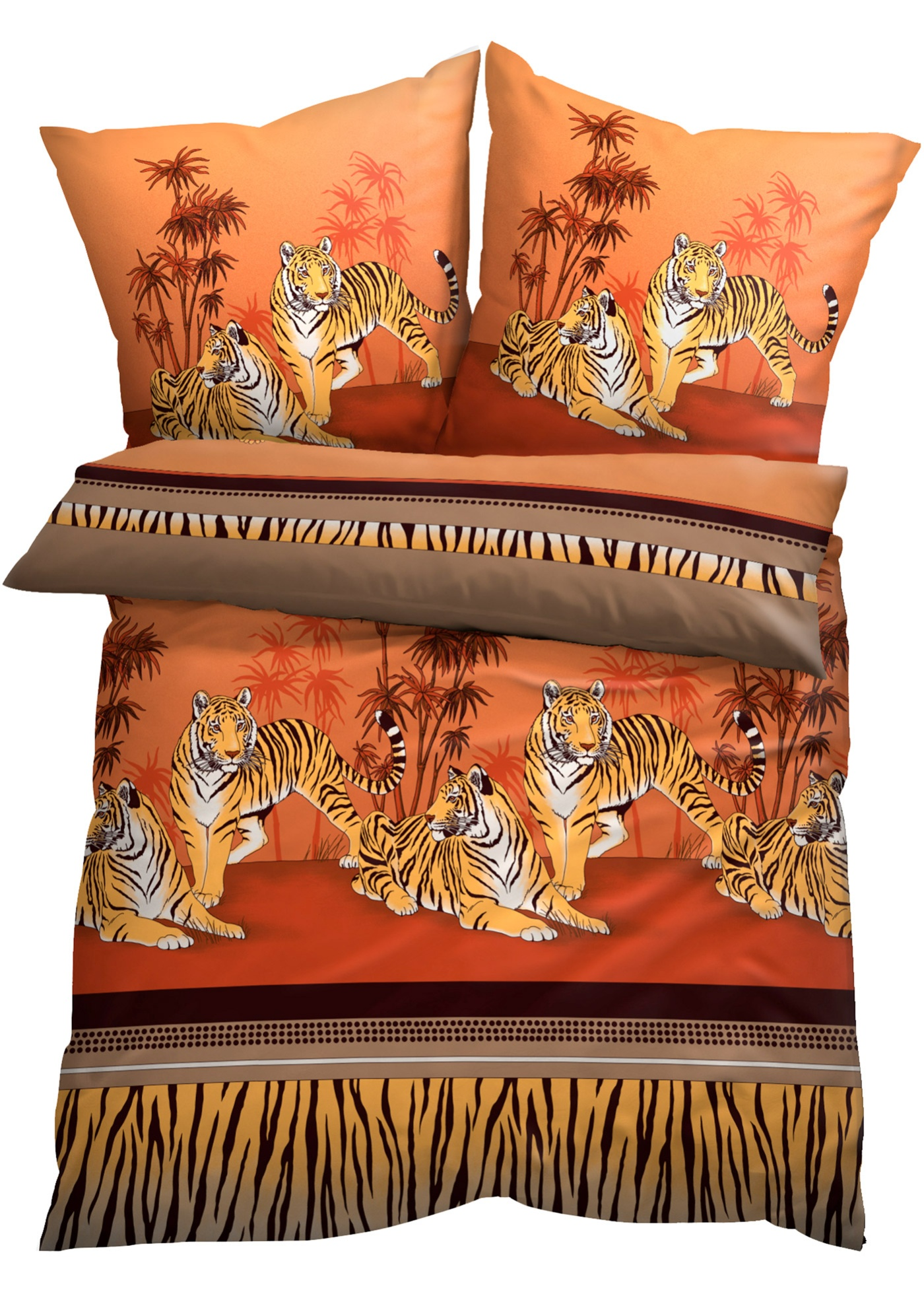 Parure de lit motif tigre
