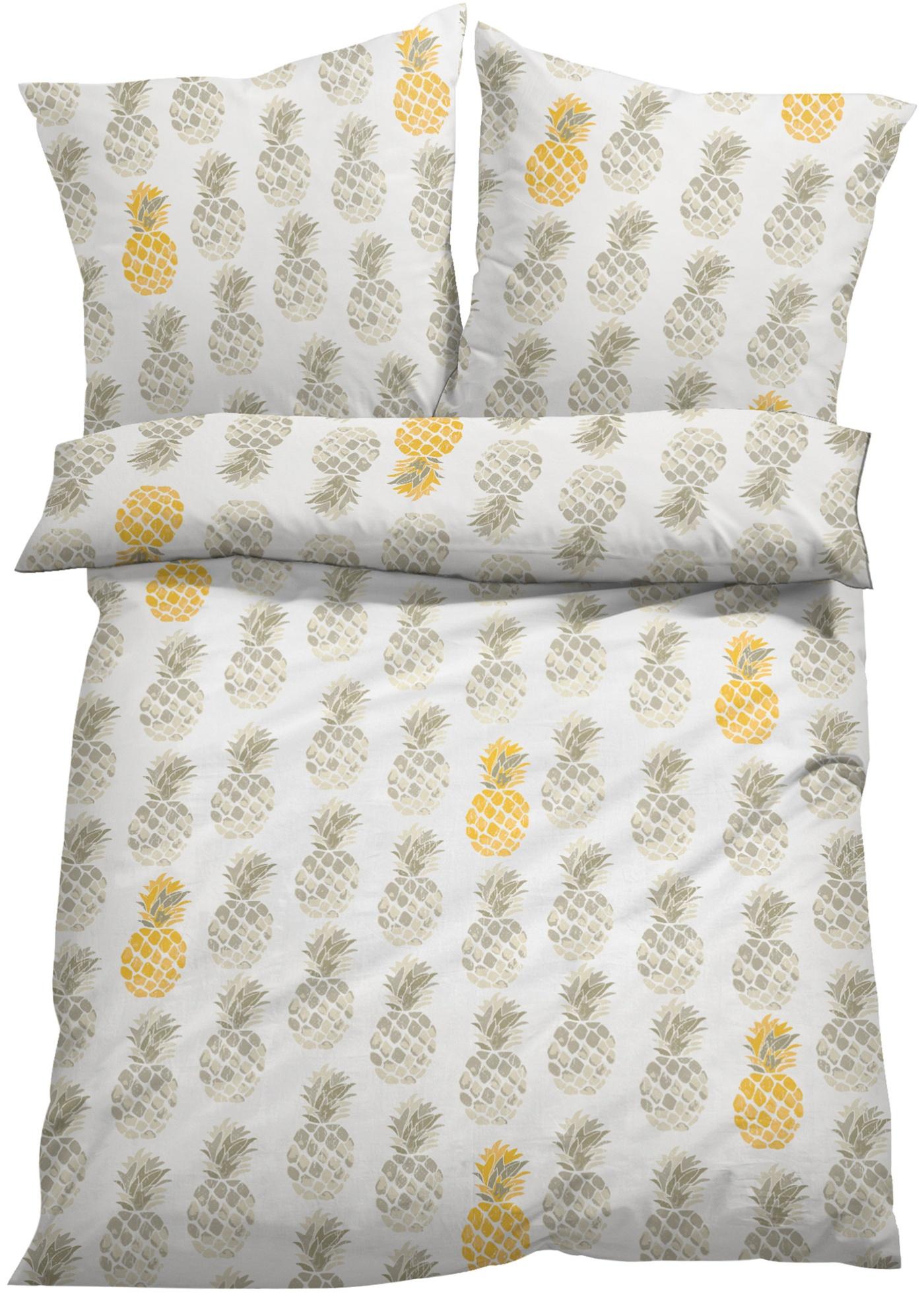 Parure de lit motif ananas