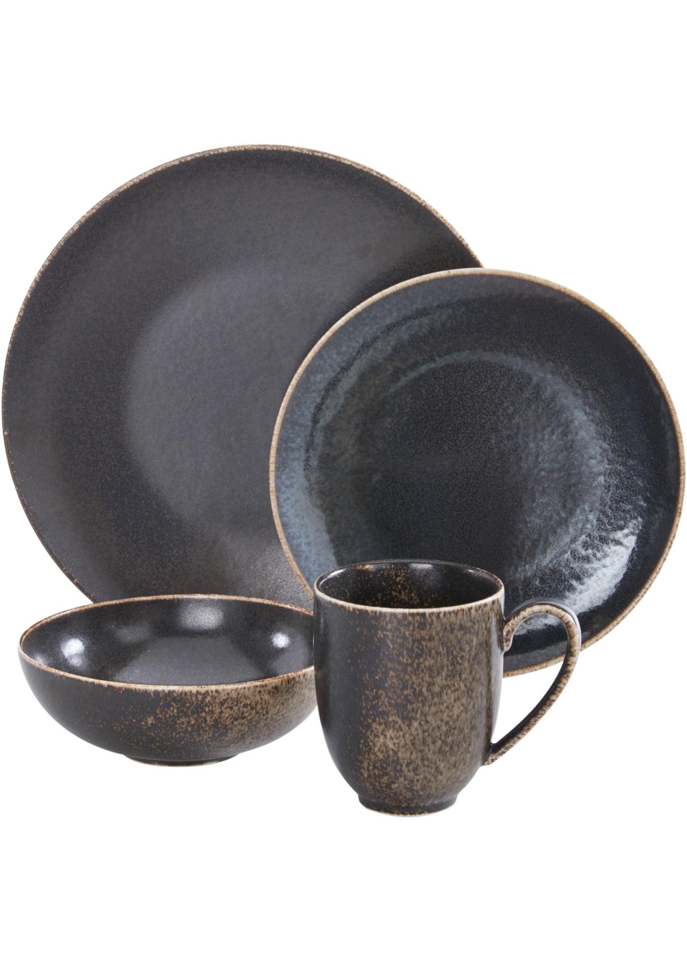 Service vaisselle rustique (Ens. 16 pces.)
