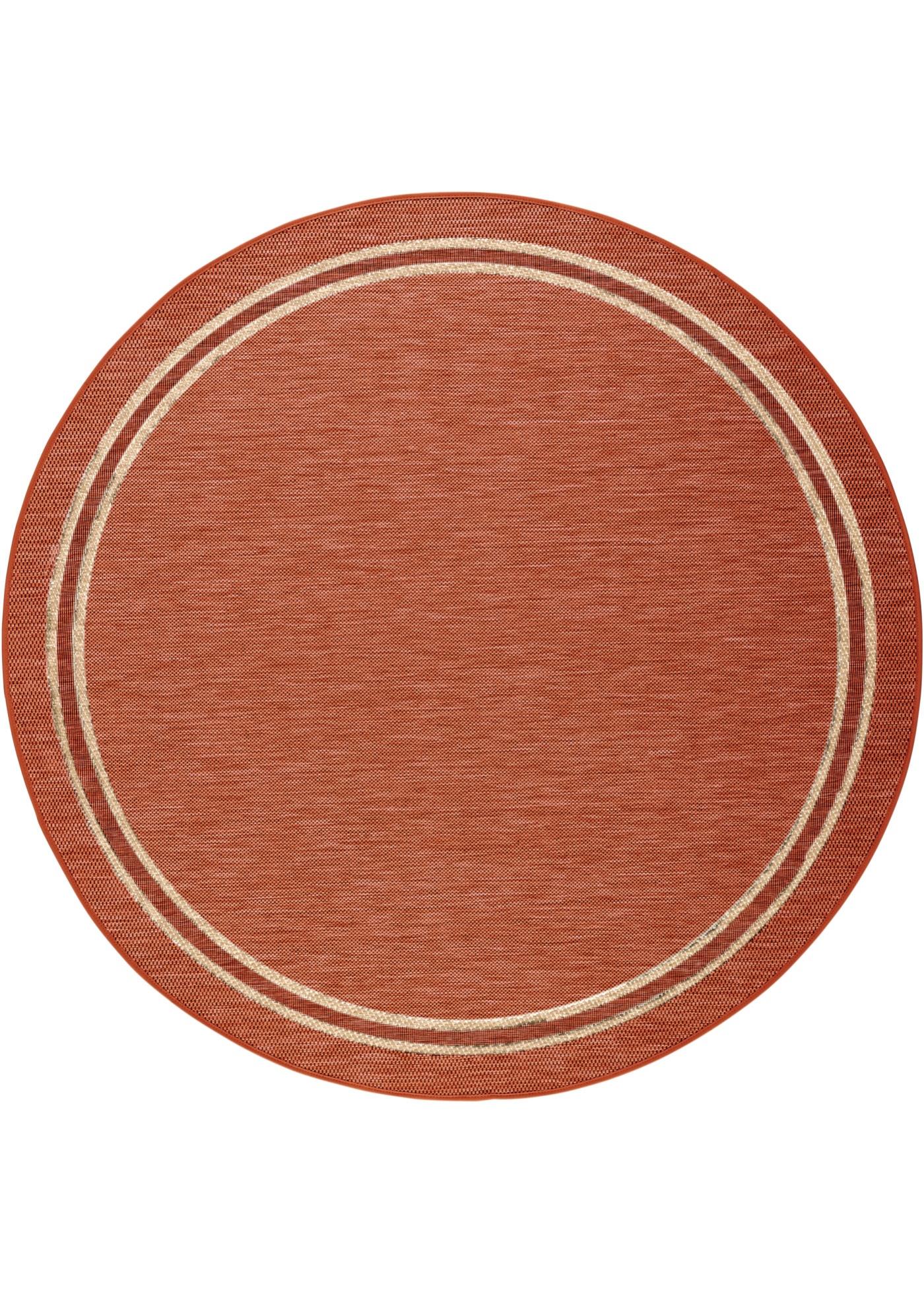 Tapis rond avec bordure, intérieur et extérieur