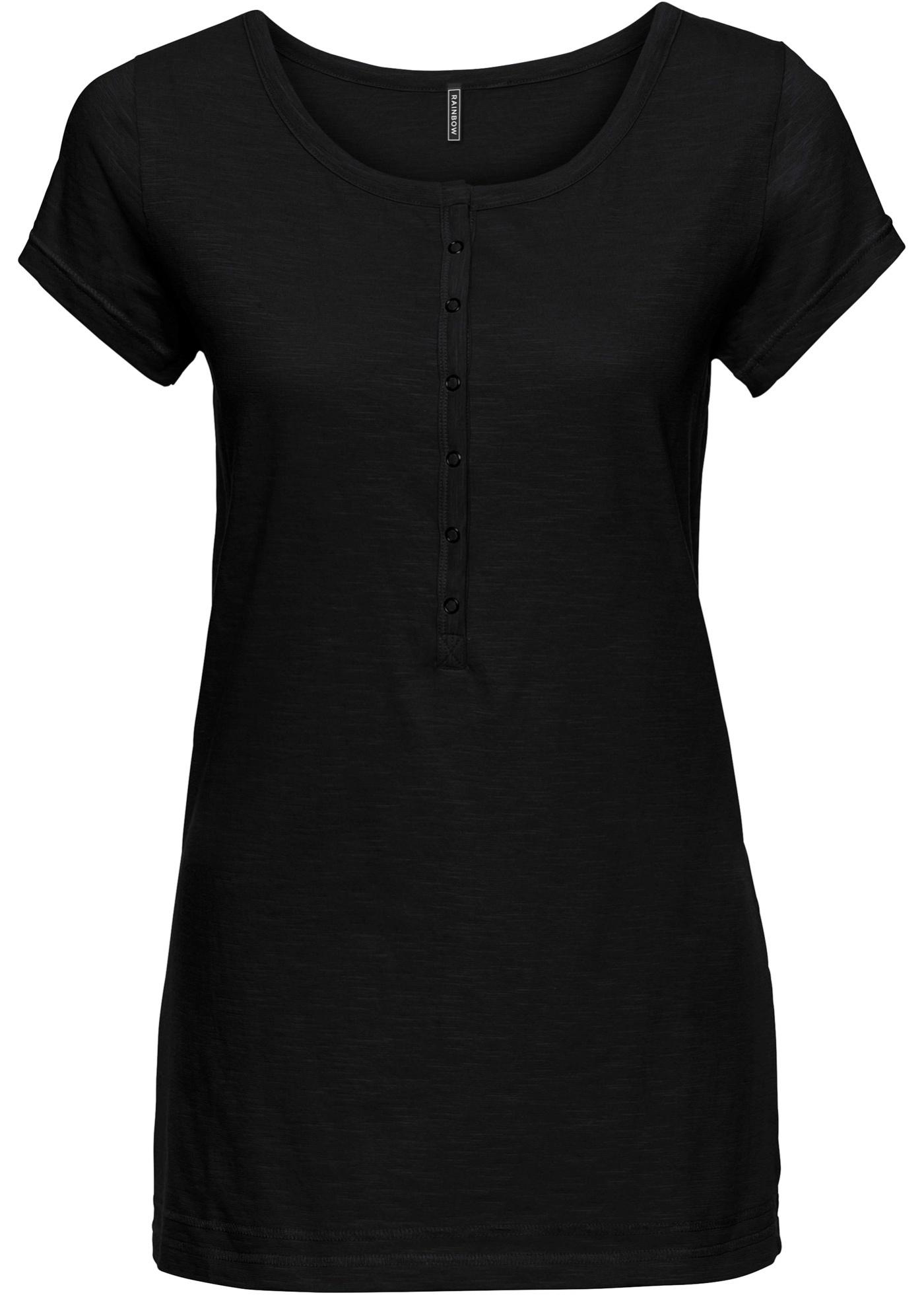 T-shirt avec patte de boutonnage
