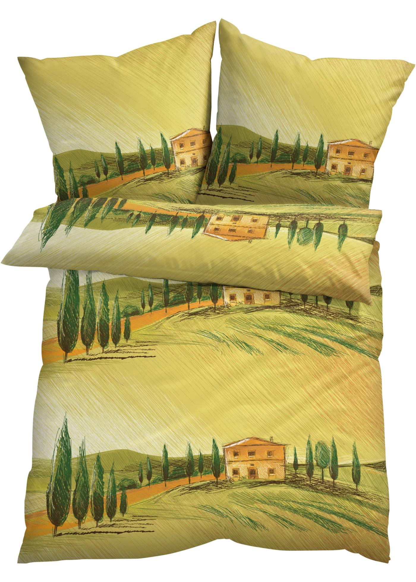 Parure de lit paysage de Toscane