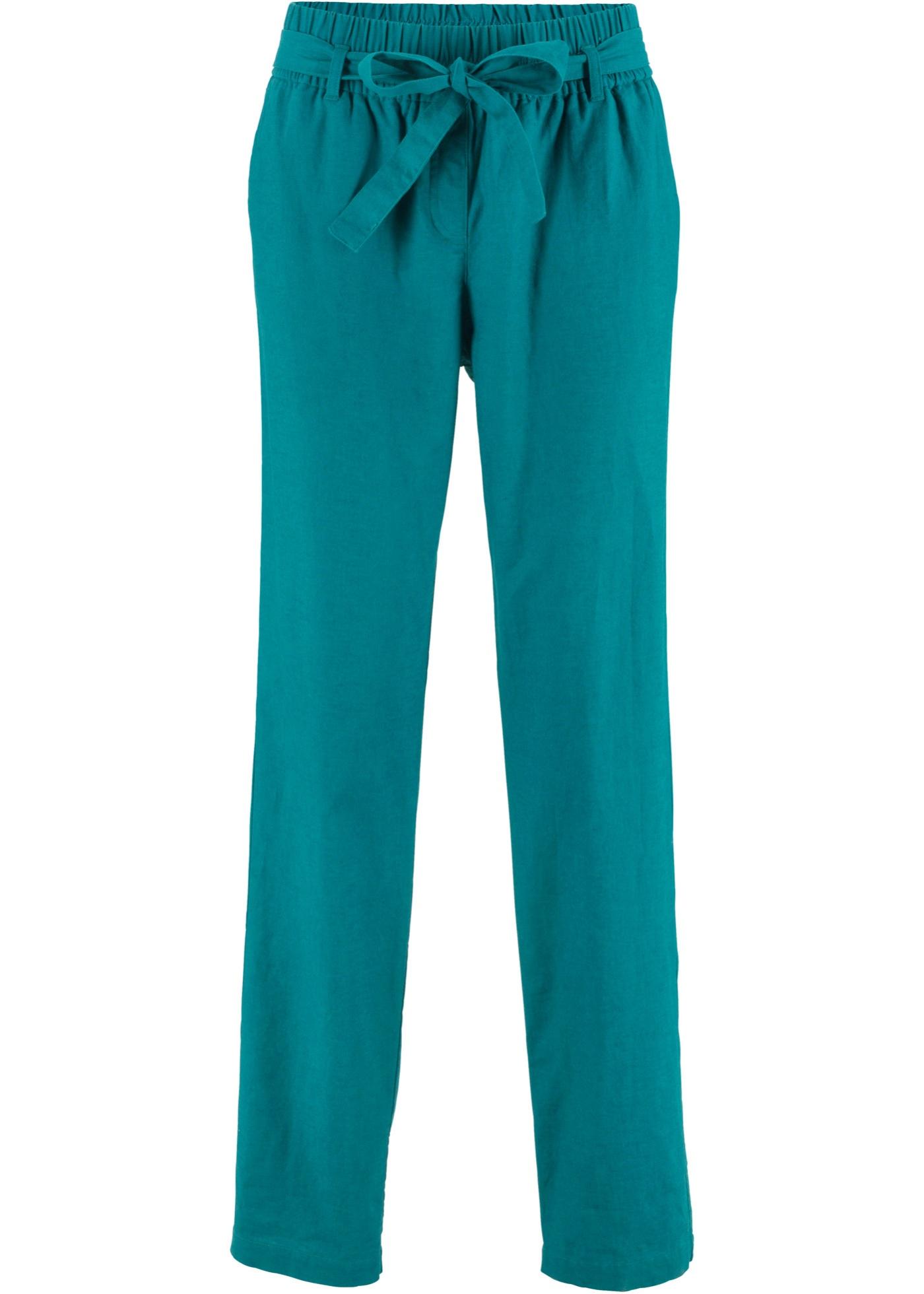 Pantalon en lin avec lien à nouer