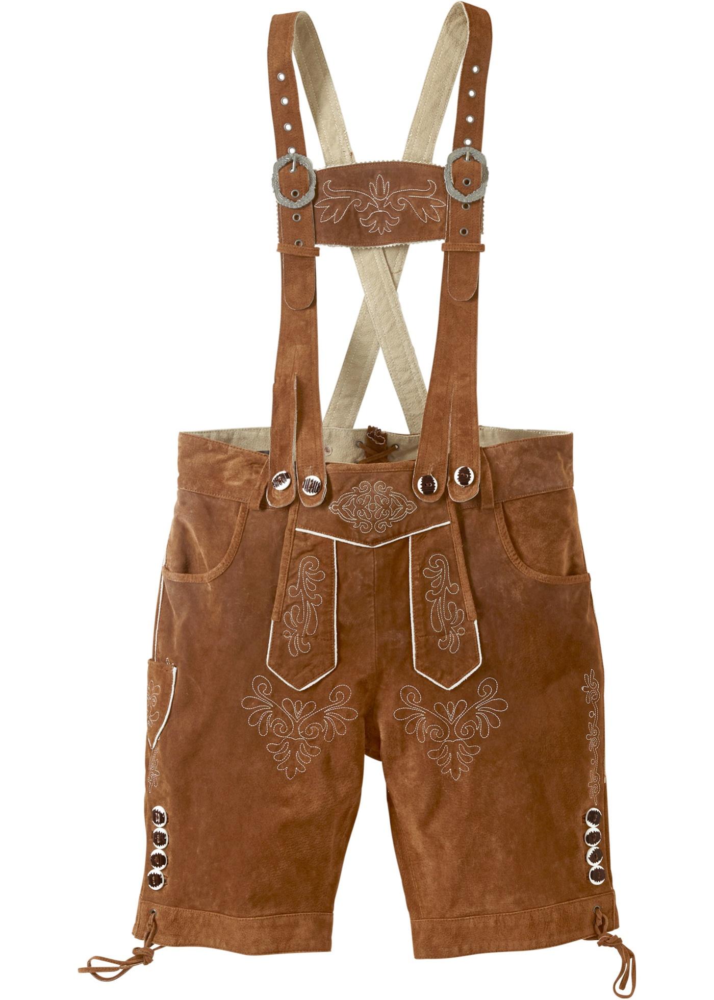 Culotte courte bavaroise en cuir, Regular Fit