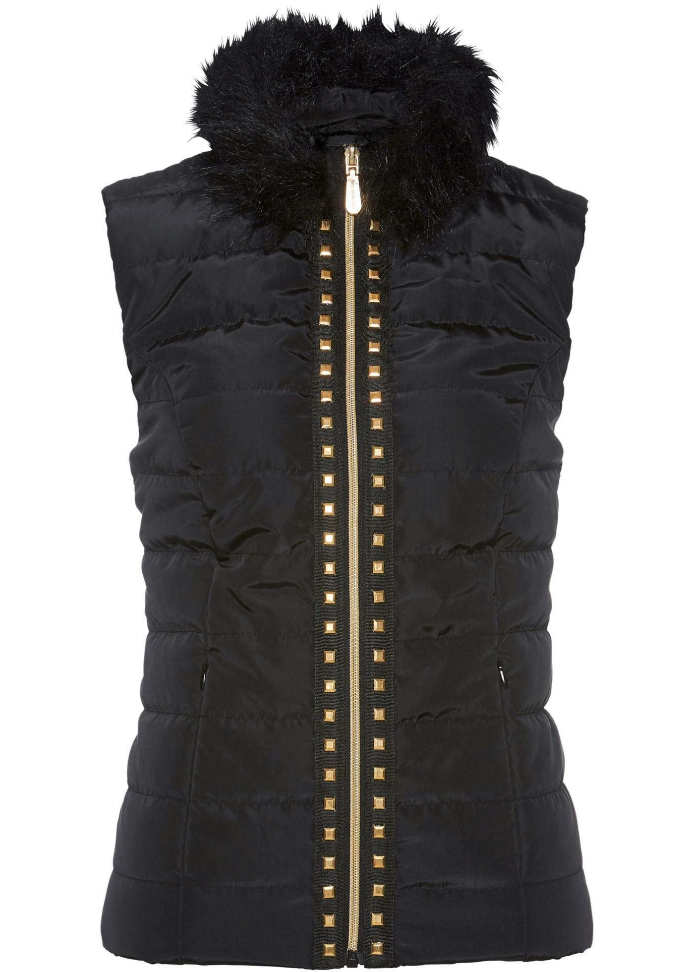 Rivets sur la fermeture zippée, léger rembourrage, 2 poches zippées dans la couture, long. env. 60 cm, lavage machine.