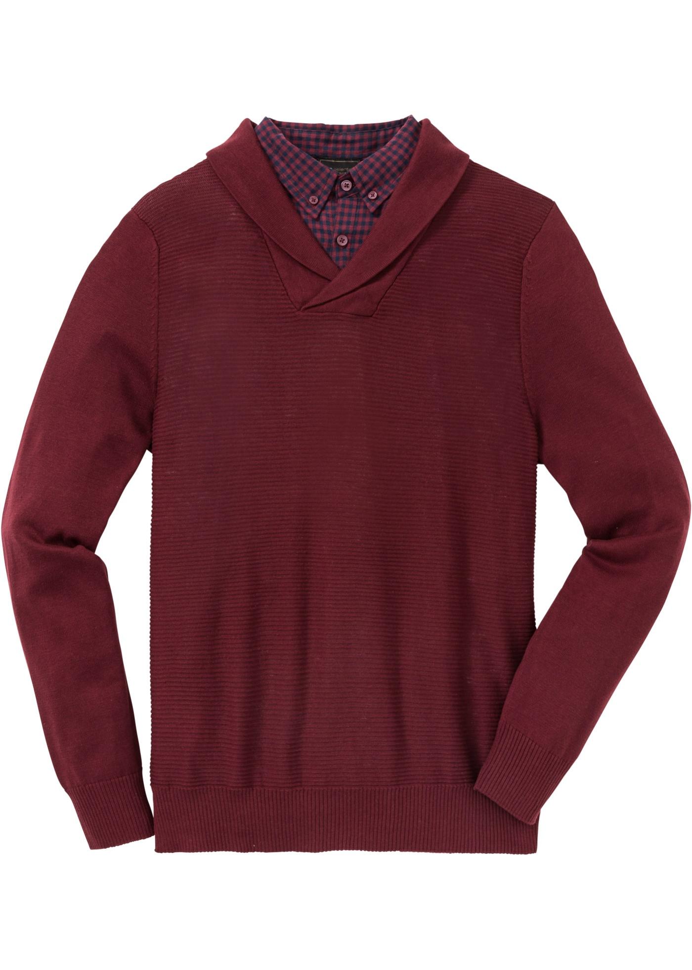 Pull à empiècement chemise Regular Fit