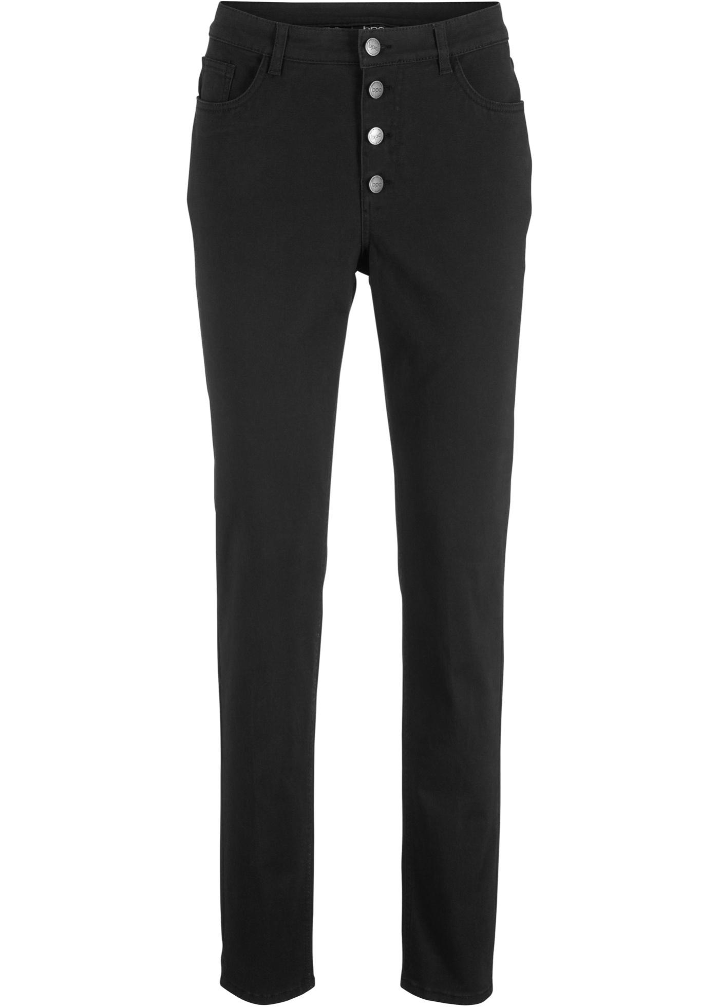 Pantalon extensible avec patte de boutonnage