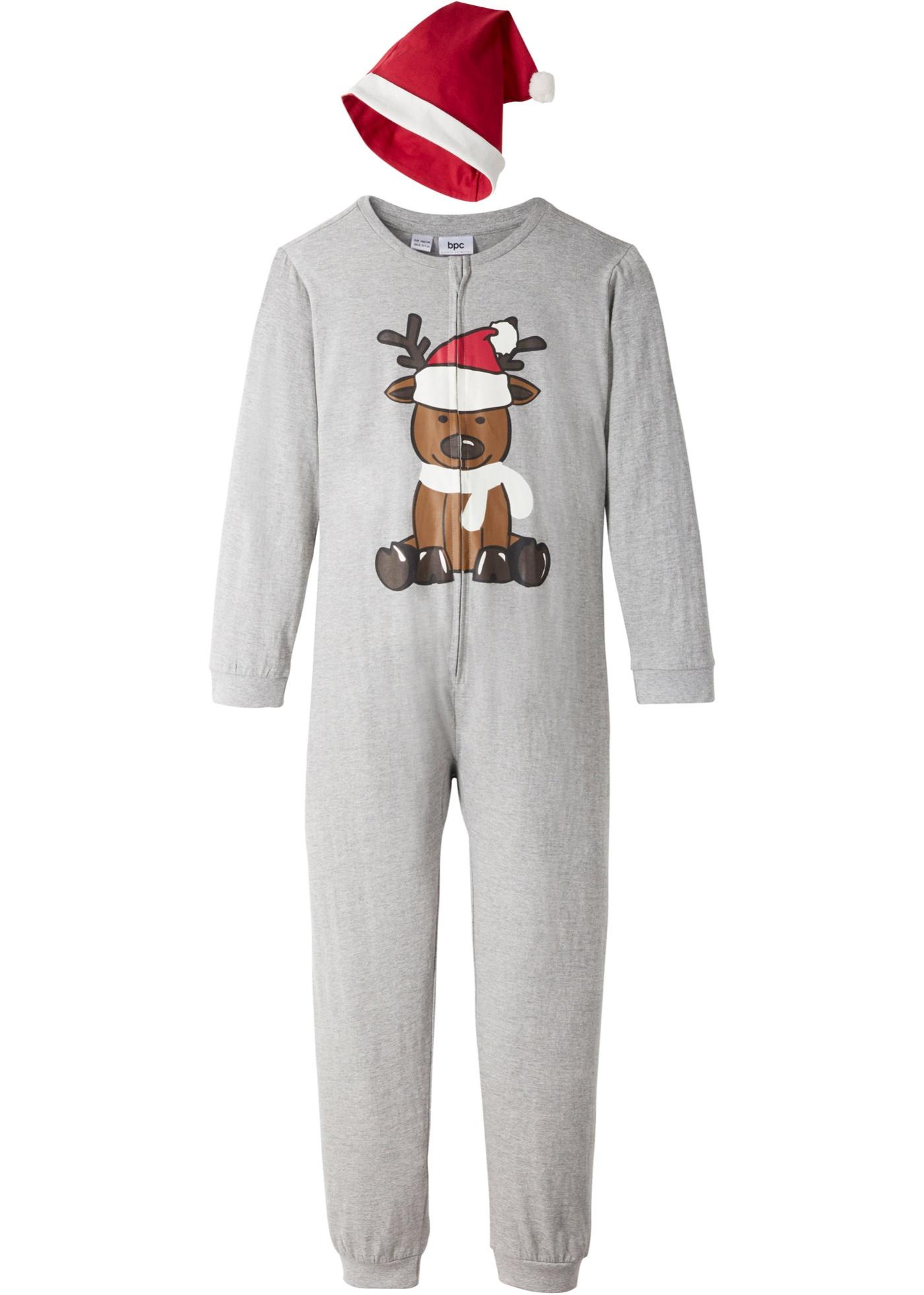 Combipyjama enfant + bonnet de Noël (Ens. 2 pces.)