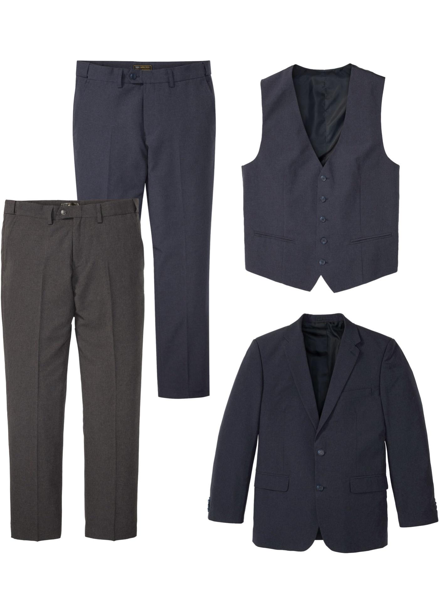 Costume 4 pièces : veste de costume, gilet sans manches, 2 pantalons
