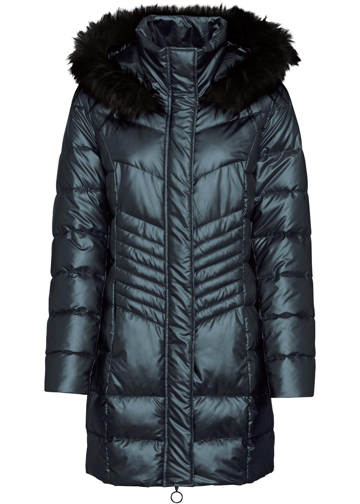 Manteau court matelassé à capuche
