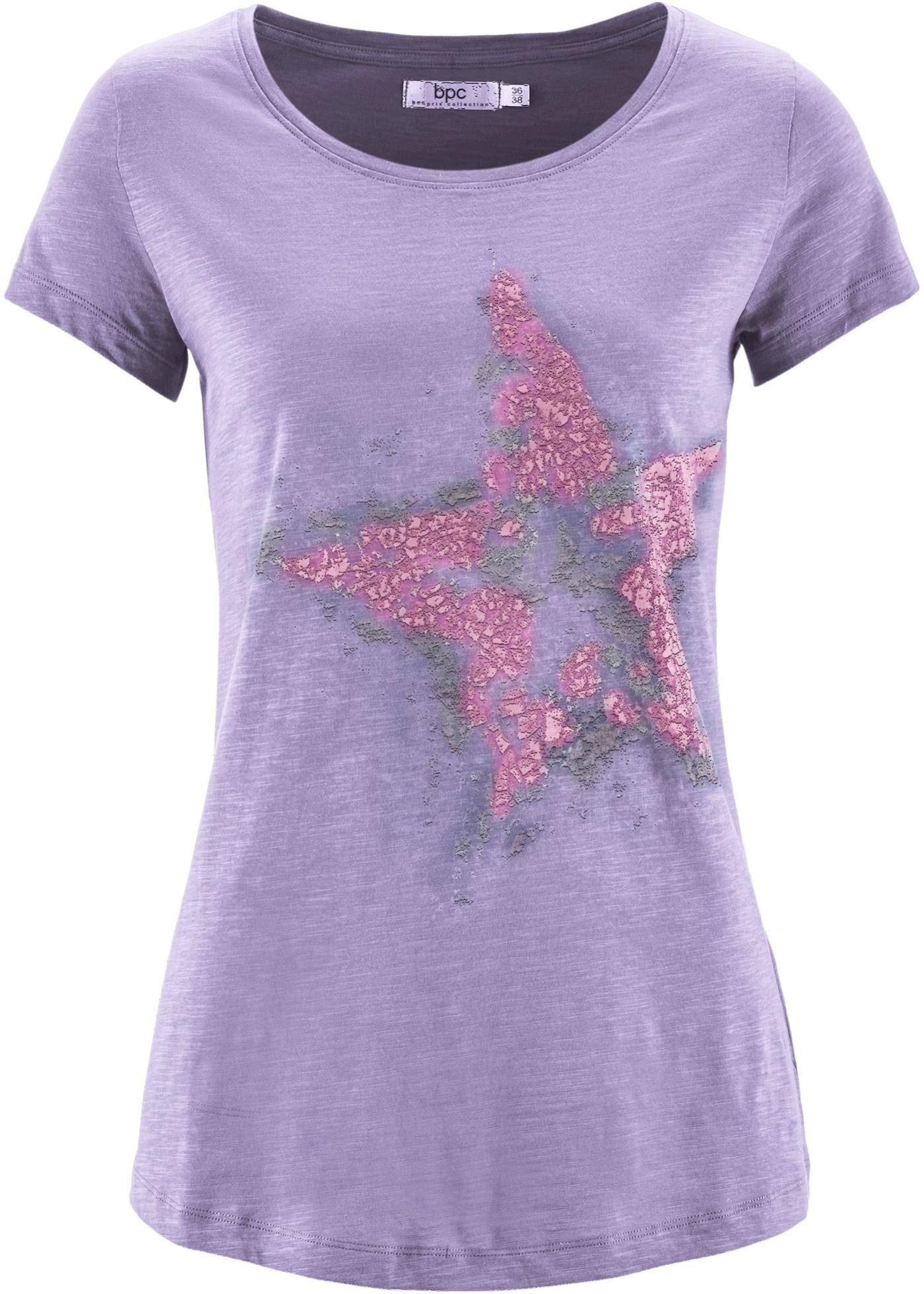 T-shirt coton fil flammé à manches courtes