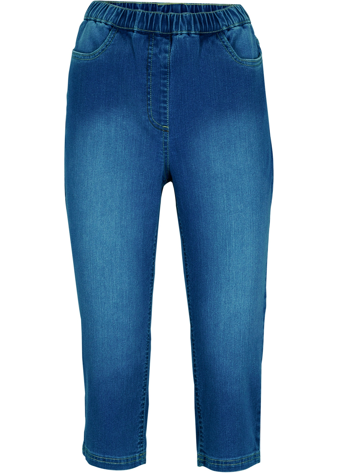 Jean corsaire confort stretch avec taille confortable, Skinny