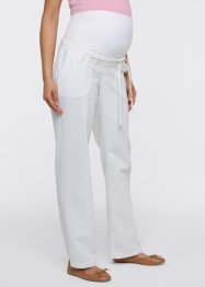 Pantalon de grossesse en lin, bpc bonprix collection, blanc