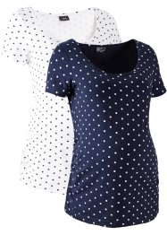 Lot de 2 T-shirts de grossesse en coton bio, bpc bonprix collection